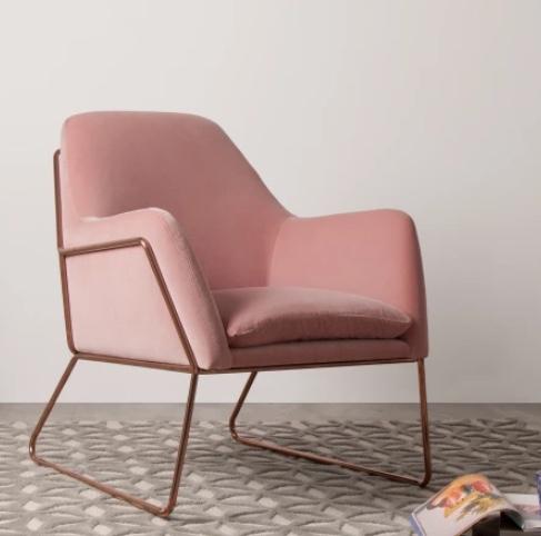 sessel, samt, made.com, interior, designsessel, pastell