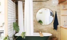 grün, badezimmer, pflanzen, wohntrend, einrichtung, natur, dekoration, inneneinrichtung