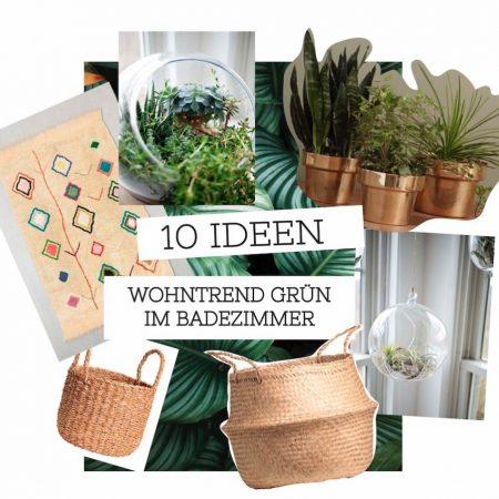 badezimmer, natur, grün, dekoration, wohntrend